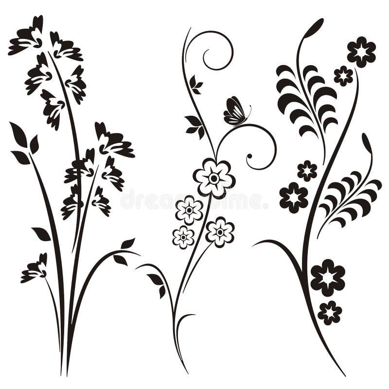Série japonaise de conception florale illustration libre de droits