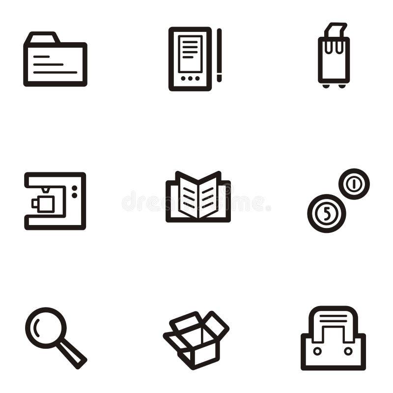 Série lisa do ícone - negócio ilustração do vetor