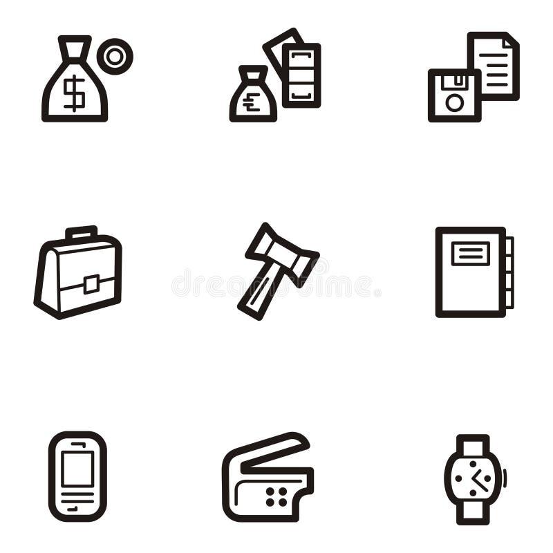 Série lisa do ícone - negócio ilustração stock