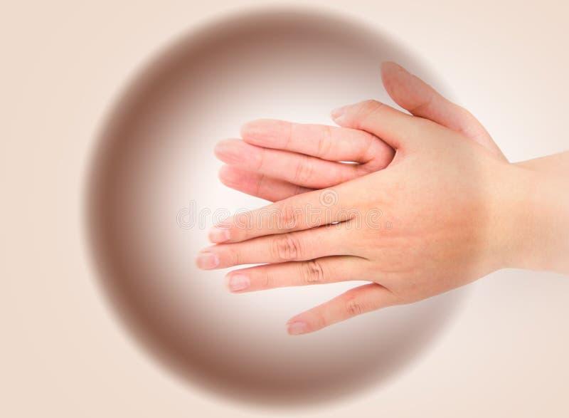 Série médica do gesto de mão da lavagem fotografia de stock