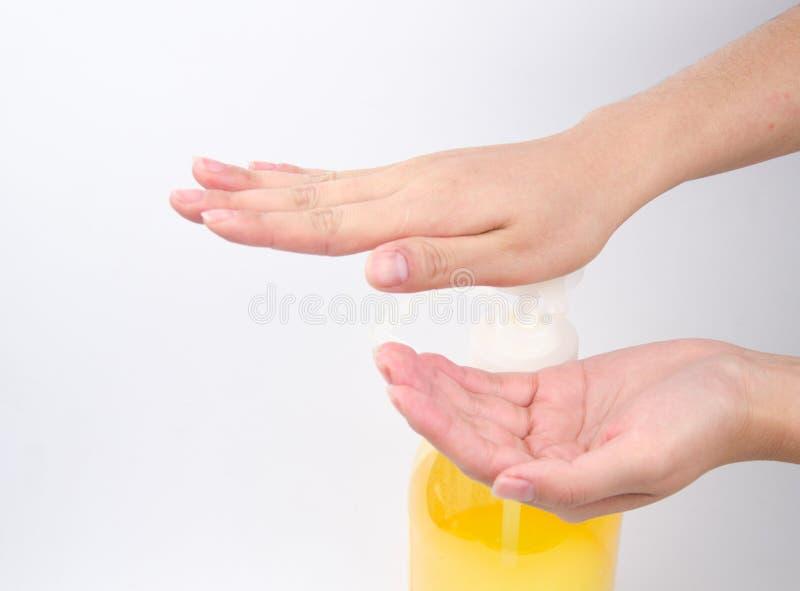 Série médica do gesto de mão da lavagem imagem de stock royalty free