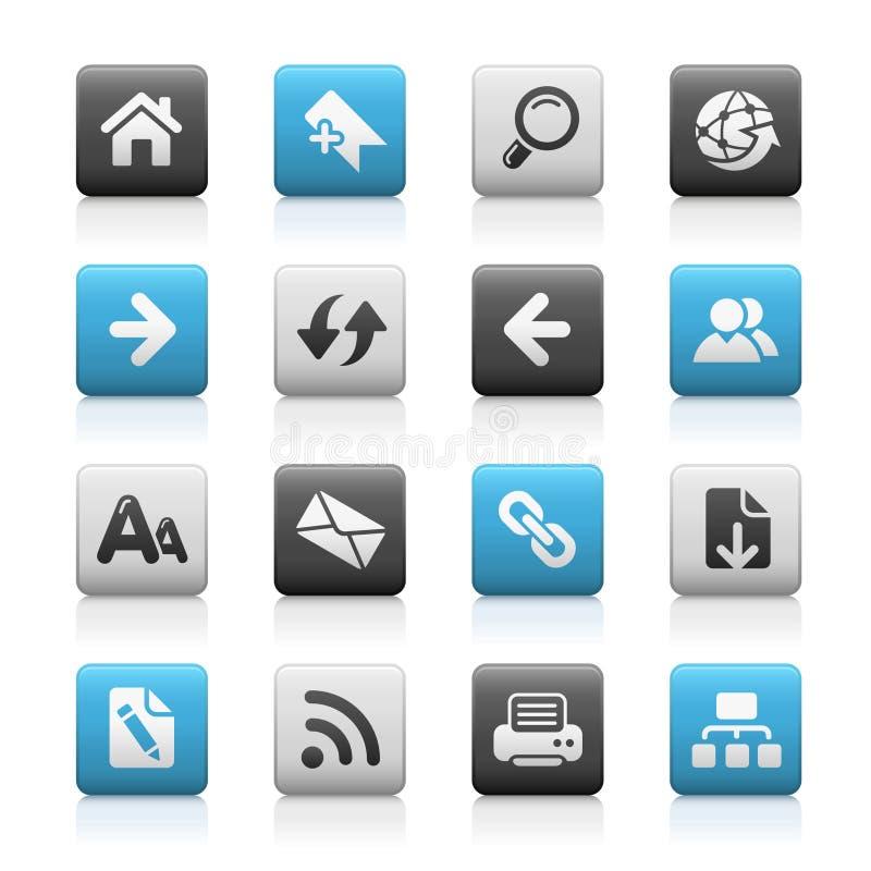 Série Matte dos ícones de // da navegação do Web ilustração royalty free