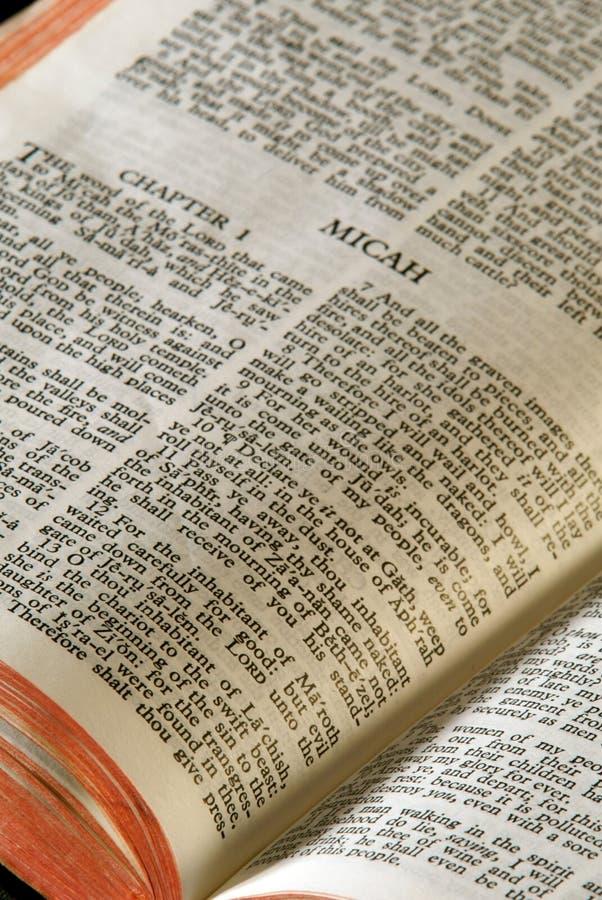 Série Micah da Bíblia imagem de stock royalty free