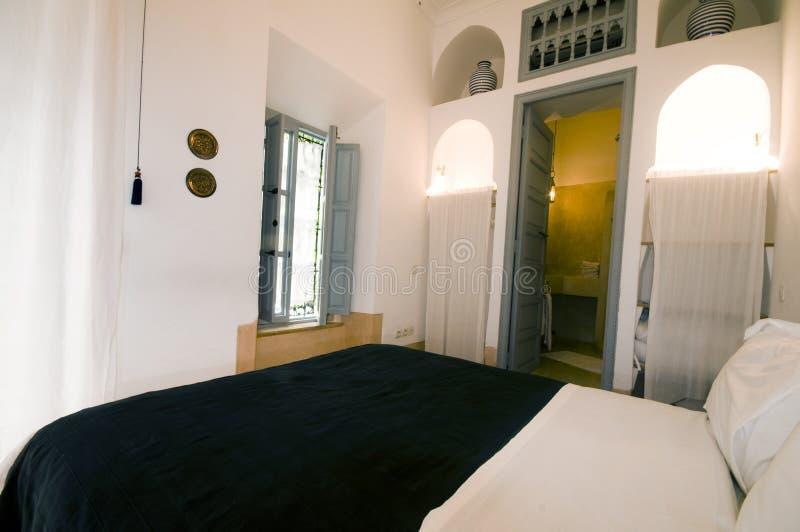 Série na casa do hotel do riad em c4marraquexe Marrocos fotografia de stock royalty free