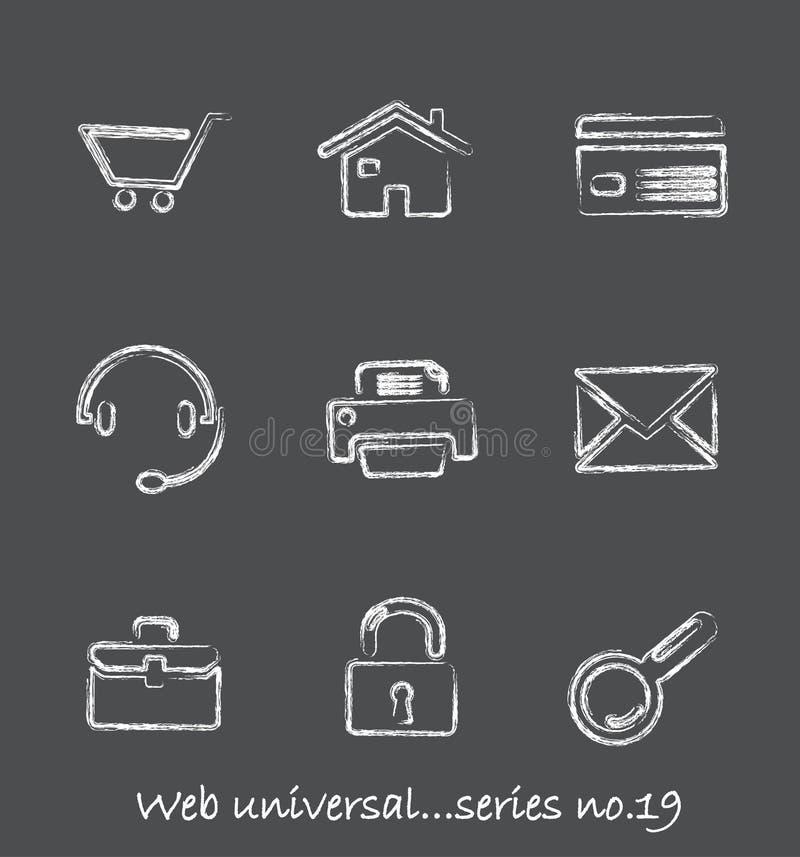Série no.19 dos ícones do quadro do Web? ilustração do vetor