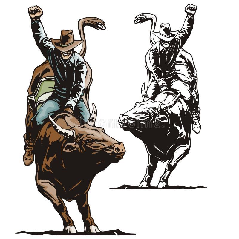 Série occidentale d'illustration illustration de vecteur