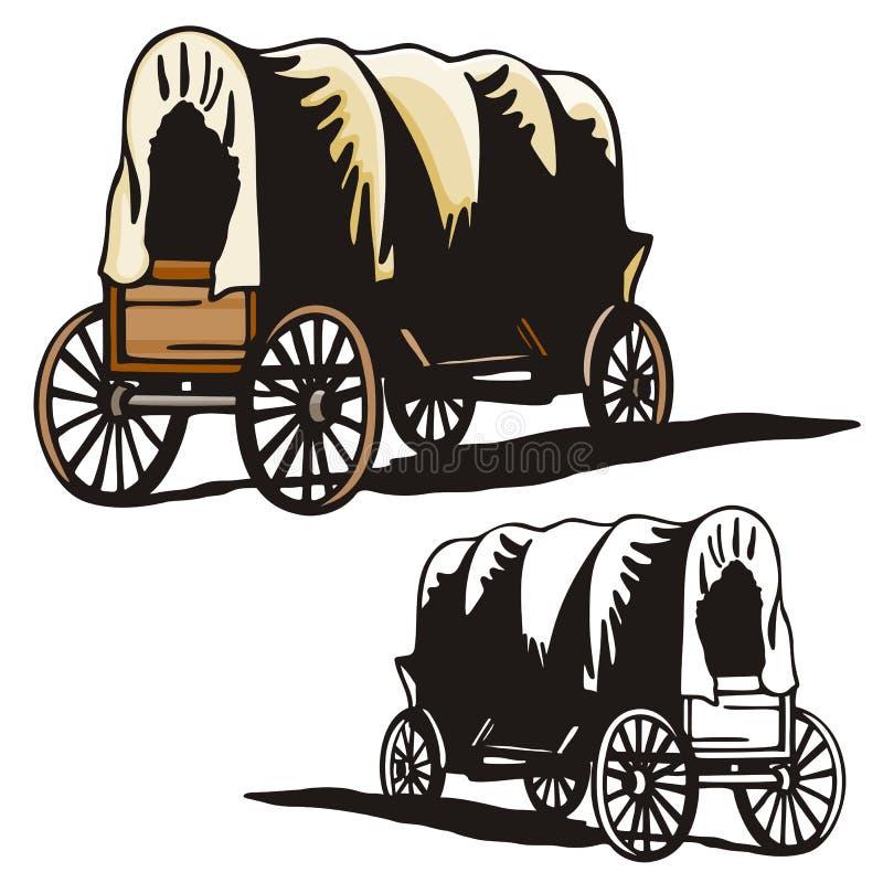 Série ocidental da ilustração ilustração stock
