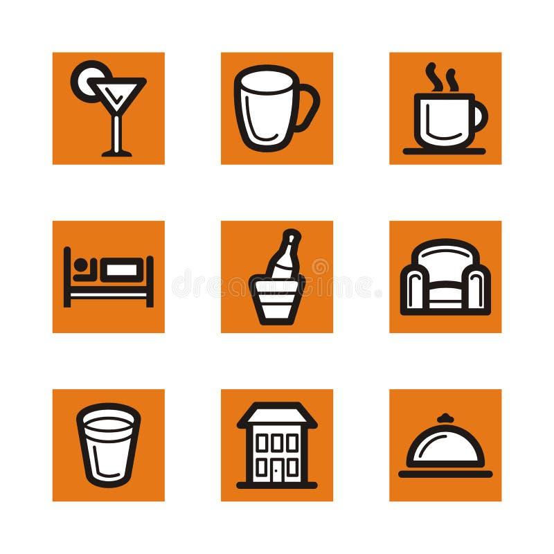 Série orange de graphisme illustration de vecteur