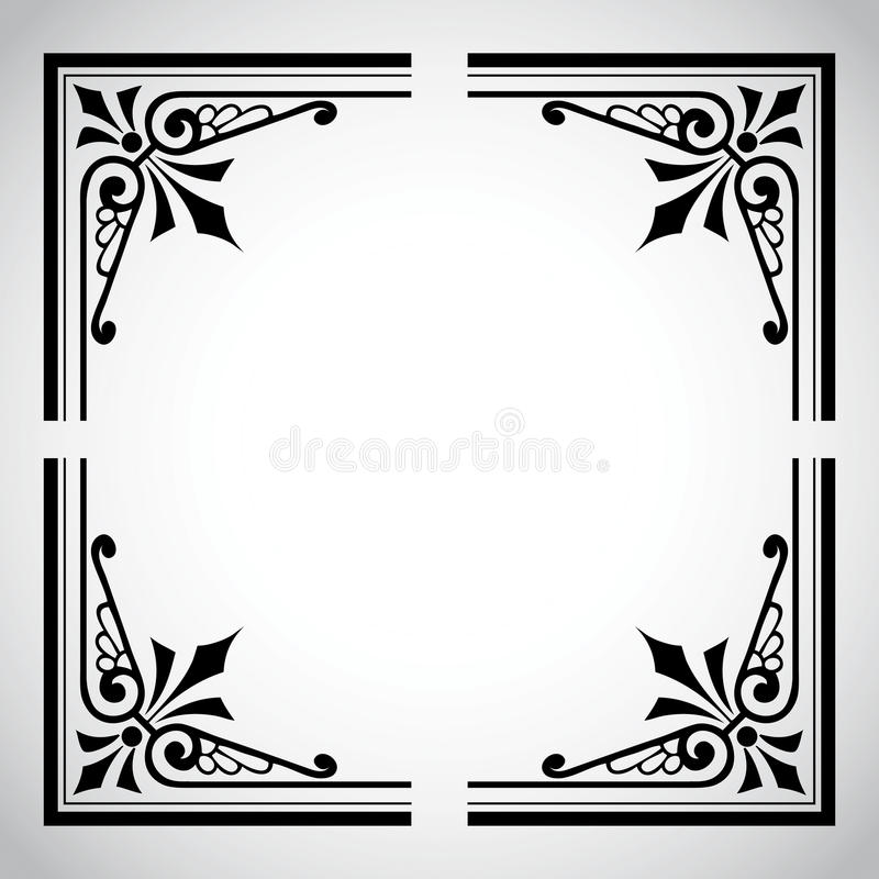 Série ornementale de trame de cru illustration de vecteur