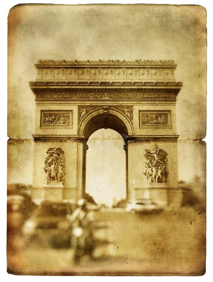Série parisiense dos cartões imagens de stock royalty free