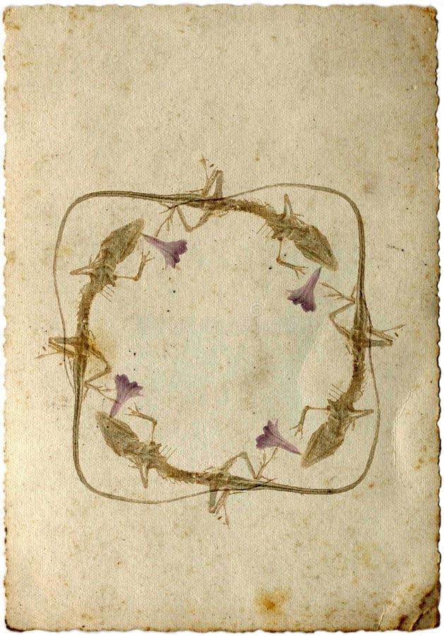 Série retro do cartão - IX fotografia de stock