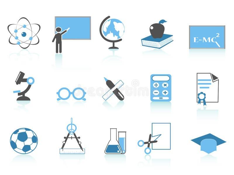 Série simple de bleu de graphisme d'éducation illustration stock