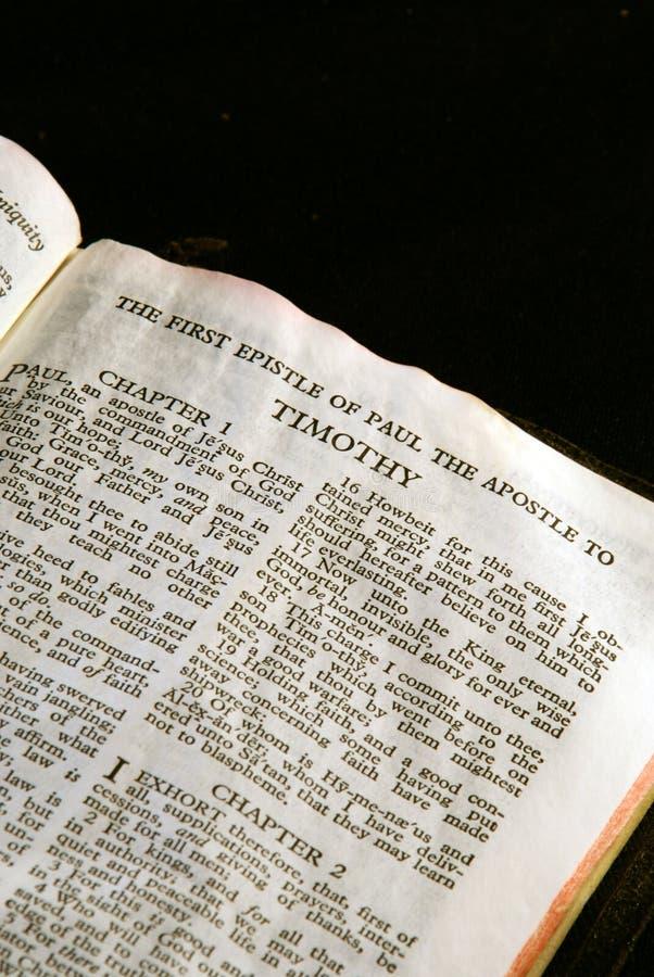 Série Timothy da Bíblia foto de stock