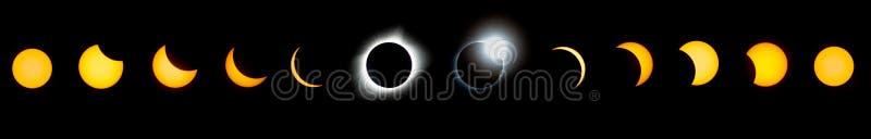 Série total do eclipse solar imagem de stock royalty free
