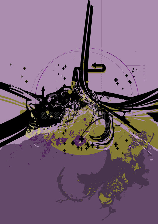 Série urbana No.1.3 de Grunge ilustração do vetor