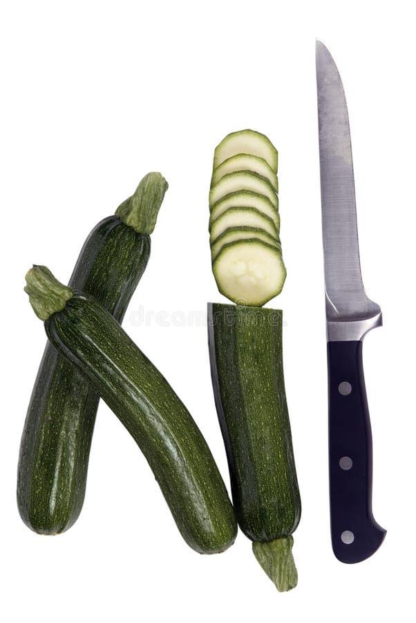 Série végétale (courgette coupée) photos stock