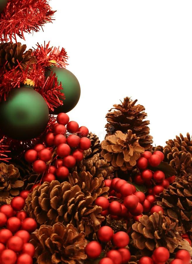 Série vermelha brilhante da árvore de Natal - Tree4 imagem de stock royalty free