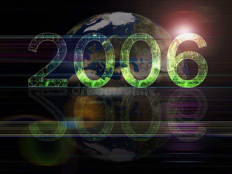 Séries globais do fundo 2006 anos ilustração do vetor