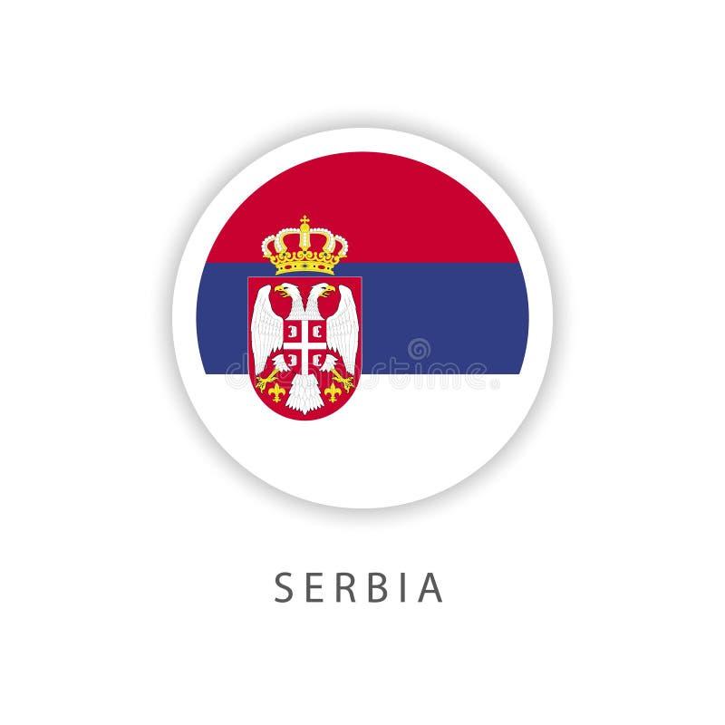 A Sérvia abotoa o ilustrador do projeto do molde do vetor da bandeira ilustração do vetor