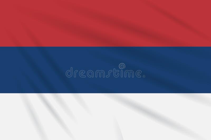 Sérvia civil da bandeira que balança no vetor realístico do vento ilustração royalty free