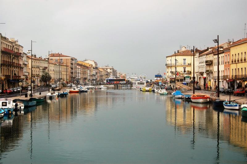 Séte. A beautiful town in south of France royalty free stock image