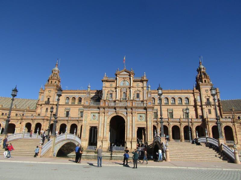 Séville, Espagne Espagnol Square Plaza de Espana image stock
