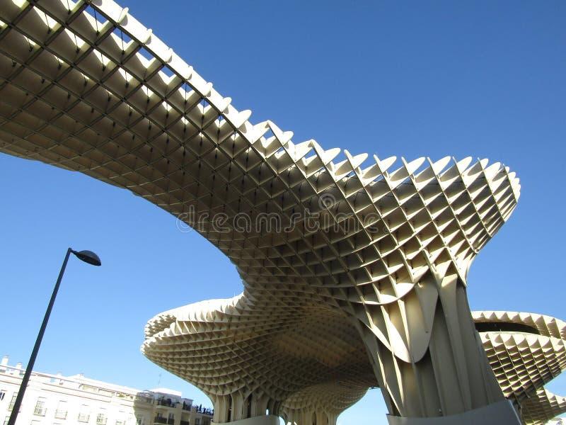 Séville, Espagne - le passage couvert de parasol de Metropol - vieux quart images stock