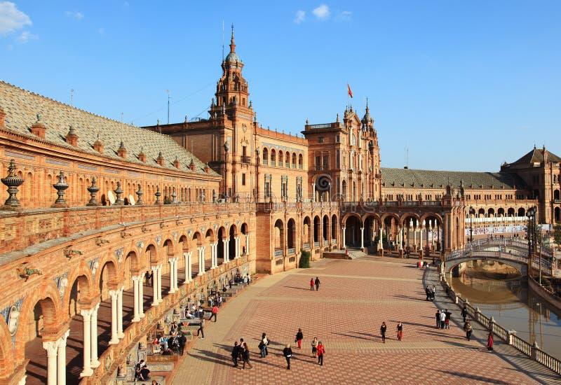 Séville, Plaza de Espana image libre de droits