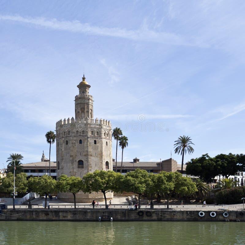 Séville Torre del Oro photo libre de droits