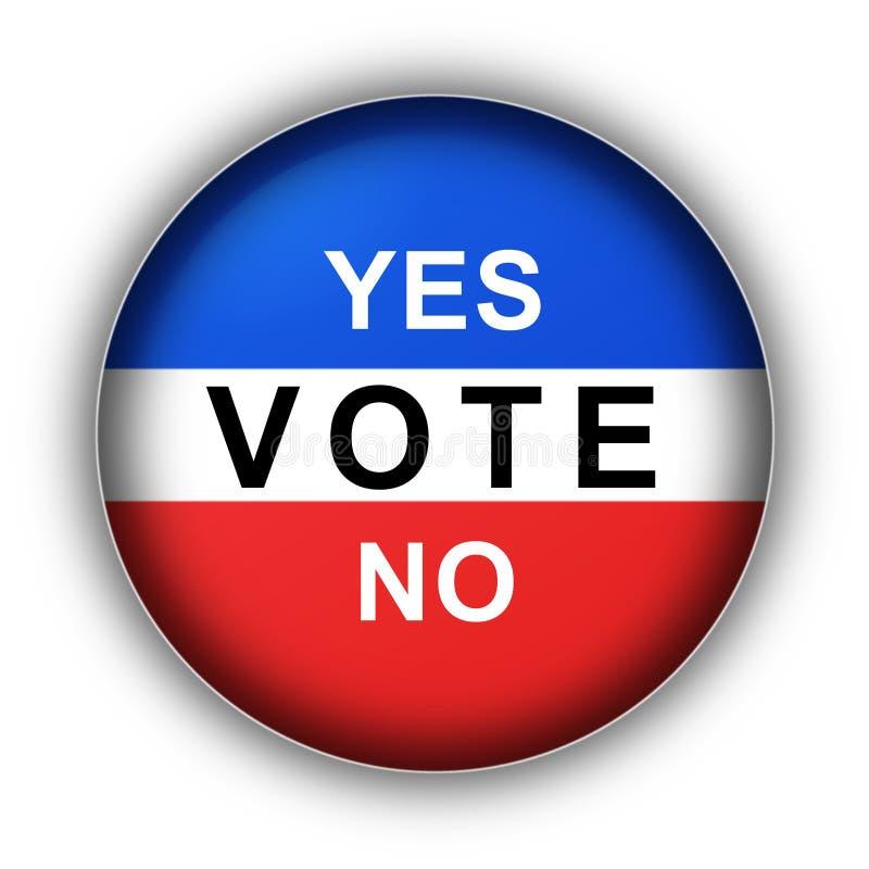 Sì no. di voto illustrazione di stock