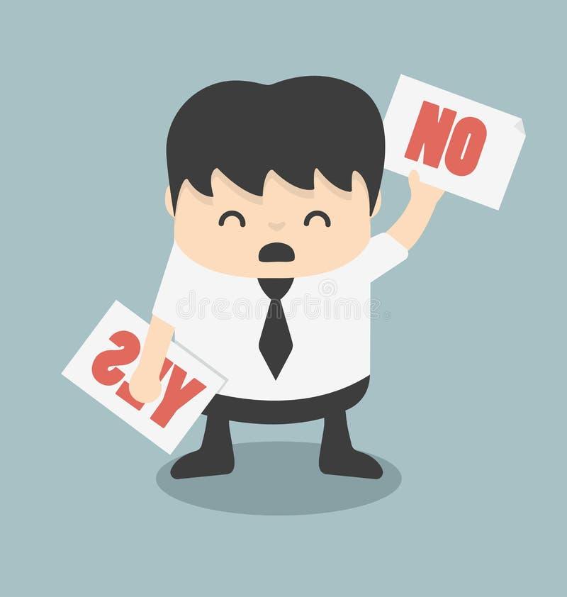 Sí o cuestionario del No ilustración del vector