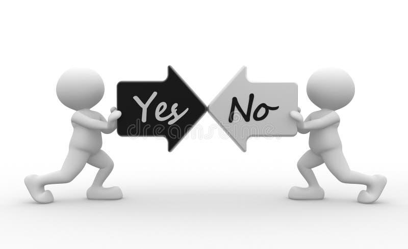 Sí o no ilustración del vector