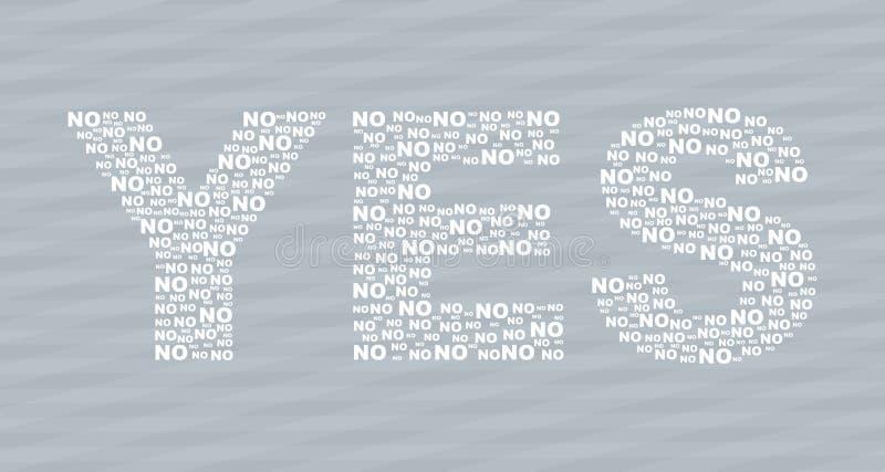Sí y No stock de ilustración