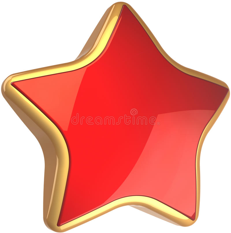 Símbolo à moda do sucesso da estrela vermelha brilhante ilustração do vetor