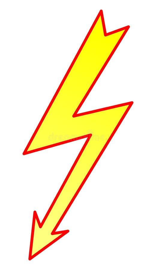 Símbolo 2 do relâmpago ilustração royalty free