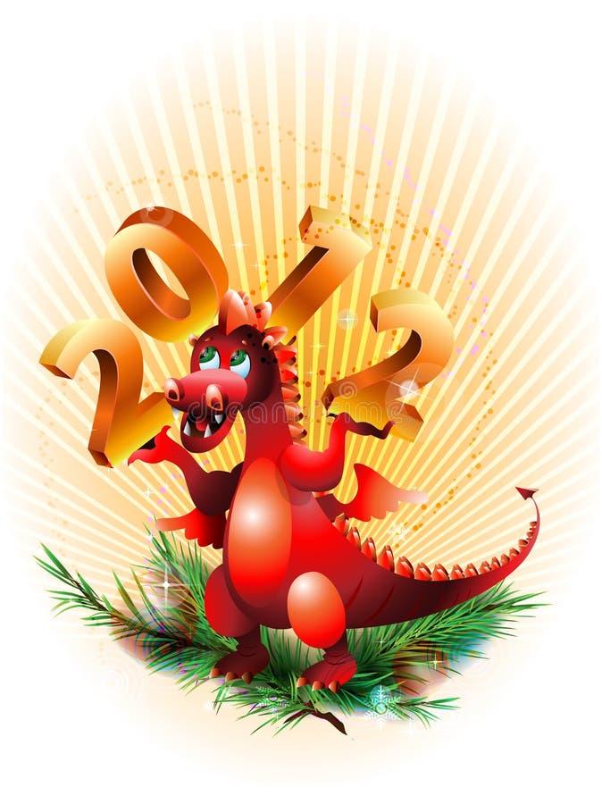 Símbolo 2012_ de Dragon_ ilustración del vector