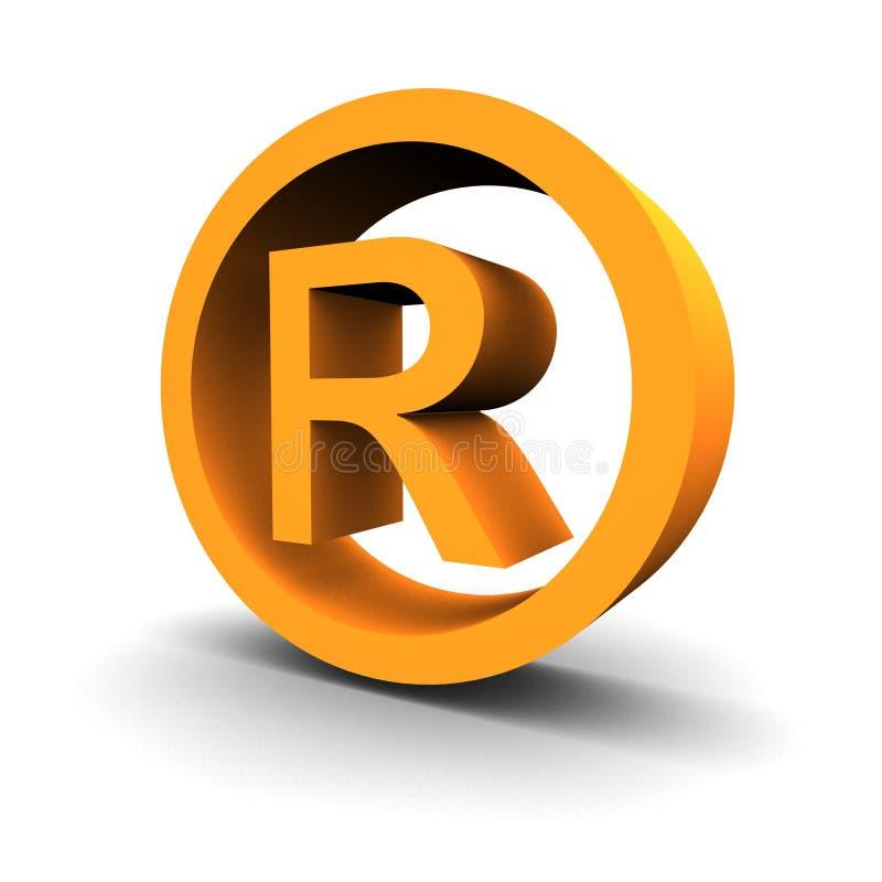 Símbolo 3d de la marca registrada ilustración del vector