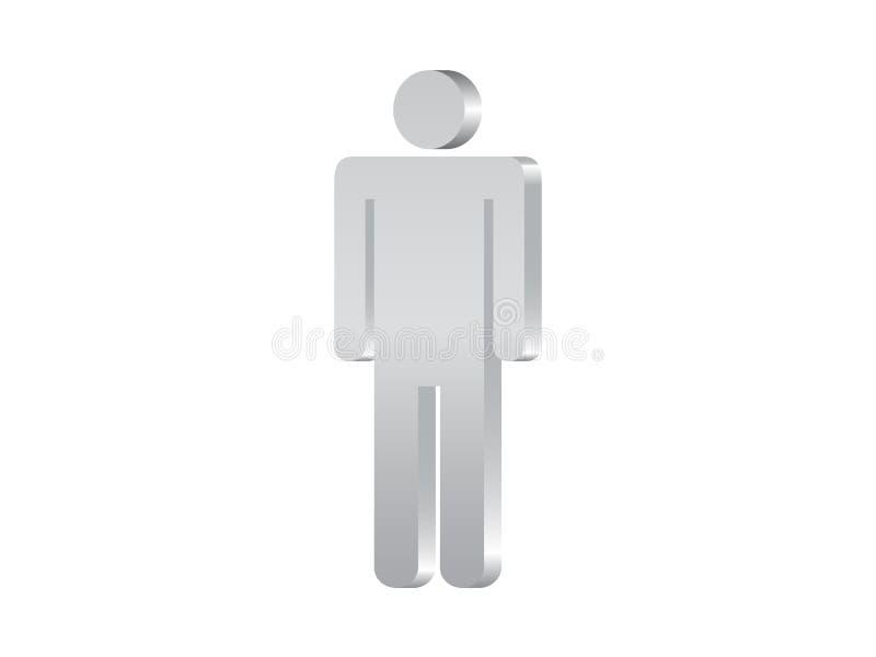 Símbolo 3d do homem ilustração royalty free