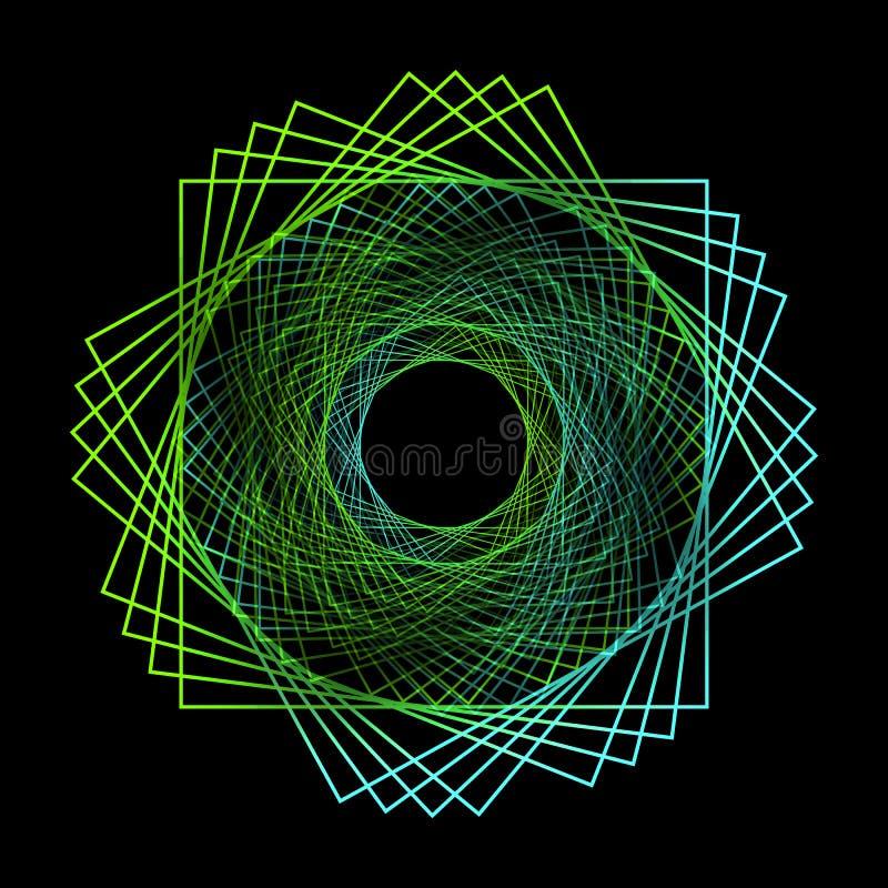 Símbolo abstracto aislado en fondo negro libre illustration