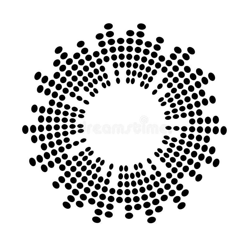 Símbolo abstracto del icono del vector del círculo de la onda acústica de la música del equalizador  ilustración del vector