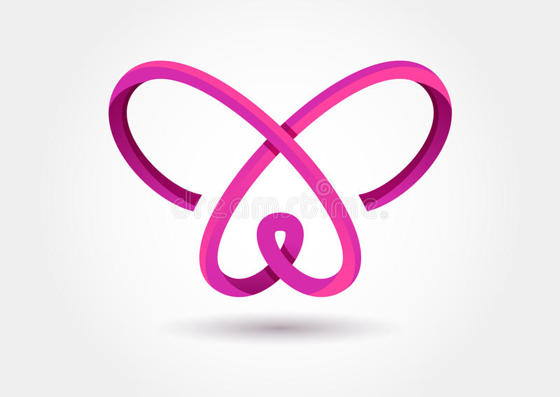 Símbolo abstrato da borboleta da infinidade Molde do logotipo do vetor Projeto