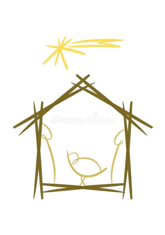 Símbolo abstrato da natividade