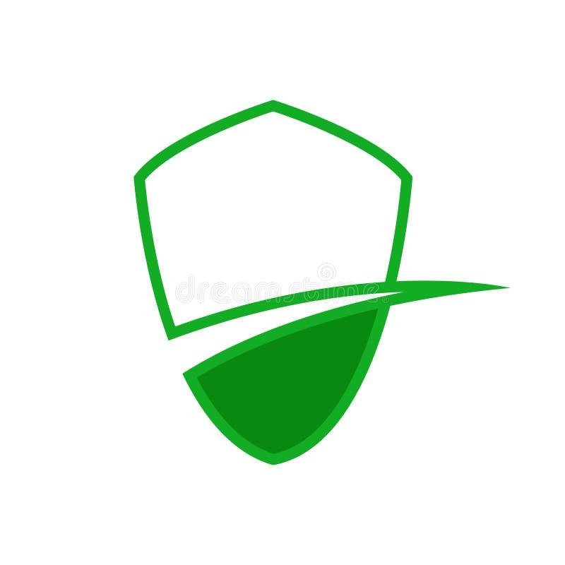 Símbolo abstrato da pista verde da proteção ilustração stock