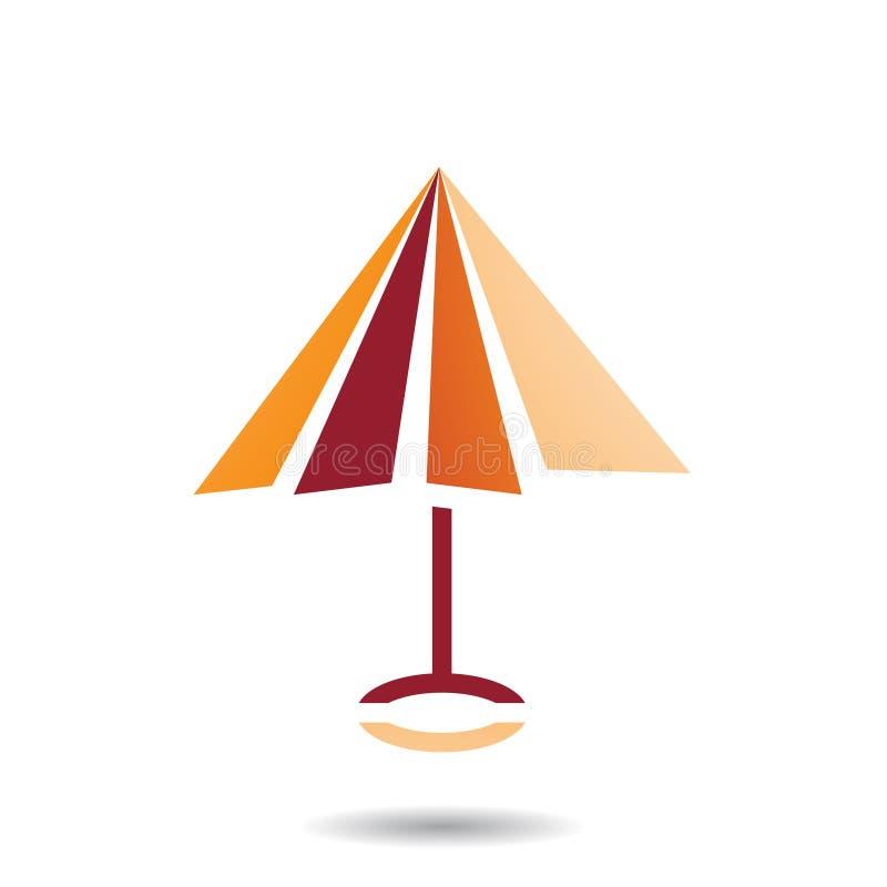 Símbolo abstrato do ícone dado forma guarda-chuva ilustração royalty free