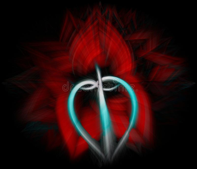 Símbolo abstrato do coração das belas artes imagem de stock