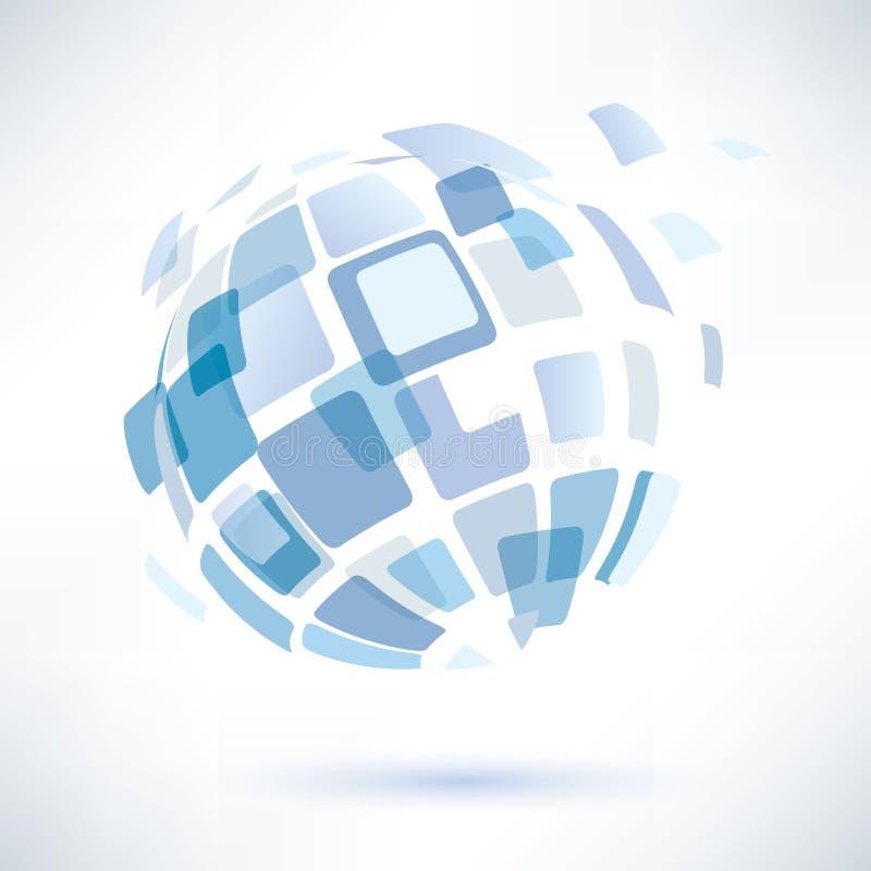Símbolo abstrato do globo, conceito do negócio ilustração do vetor