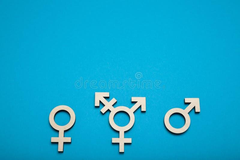 Símbolo adulto del transexual, concepto bisexual del muchacho Copie el espacio para el texto imagenes de archivo