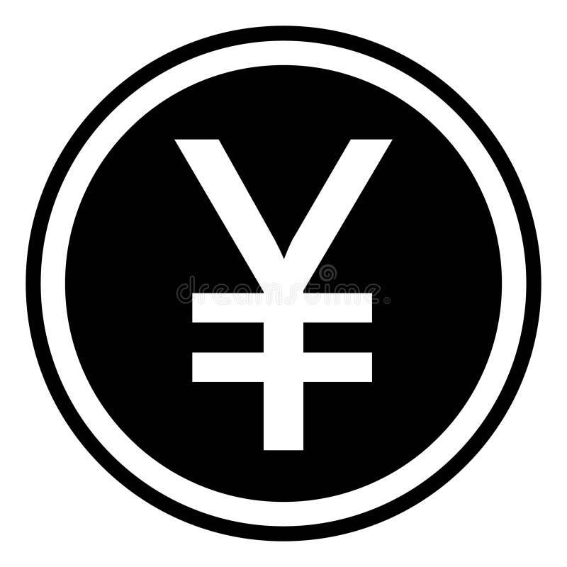 Símbolo aislado icono chino de la muestra del yuan stock de ilustración