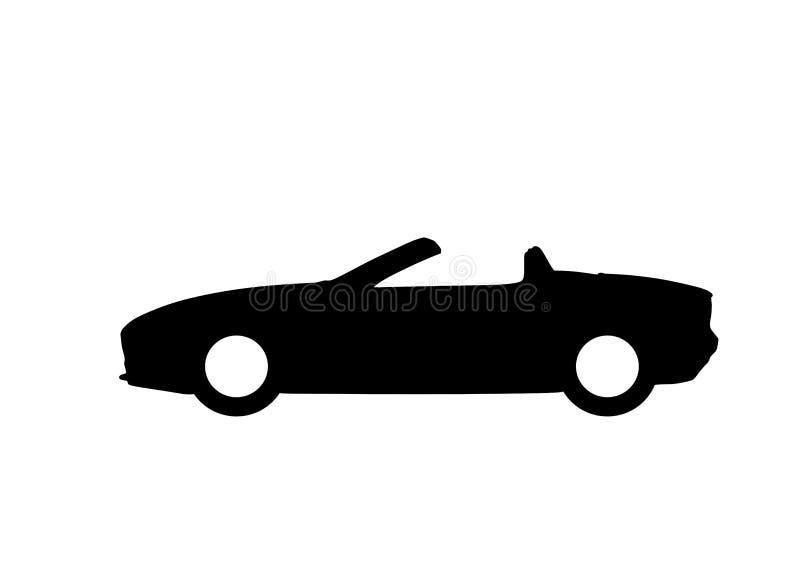 Símbolo aislado icono convertible del coche stock de ilustración