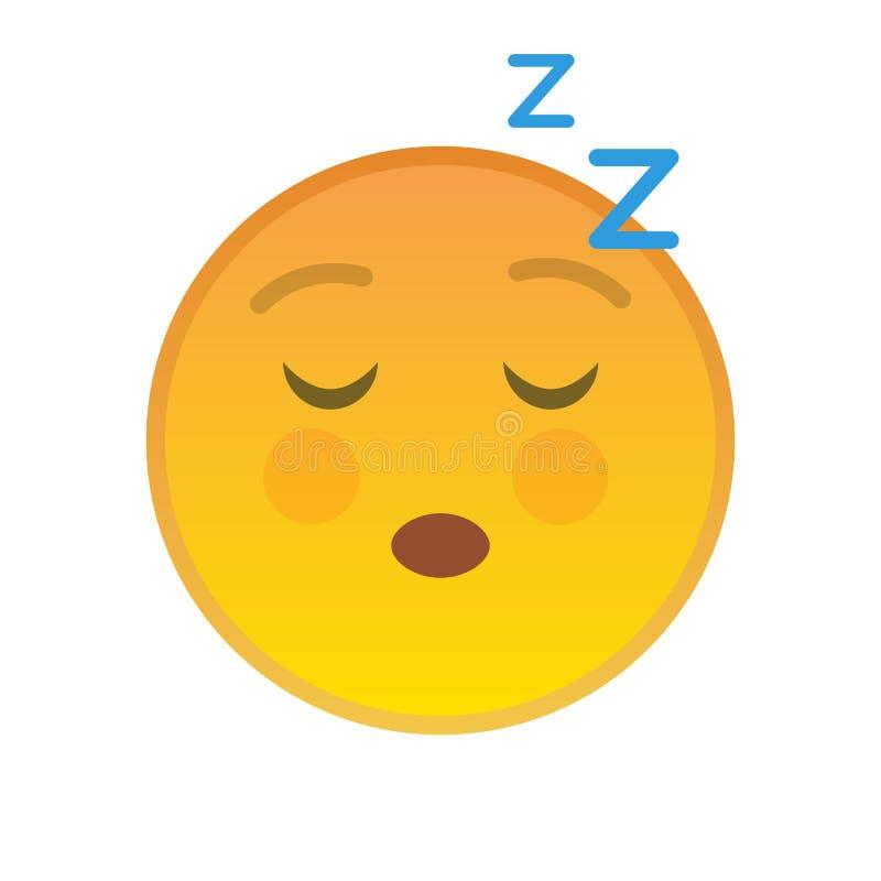 Símbolo amarillo relajante del emoji con los ojos cerrados libre illustration